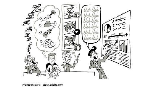 Meetings können auch mal unproduktiv sein