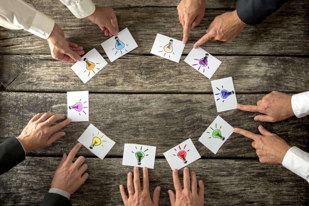 Ideen zusammen entwickeln